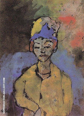 Woman in a Blue Hat By Emil Nolde Replica Paintings on Canvas - Reproduction Gallery