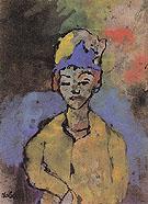Woman in a Blue Hat By Emil Nolde