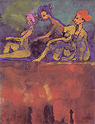 Scene with Four Figures By Emil Nolde