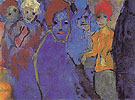 Men and Women Blue and Red By Emil Nolde