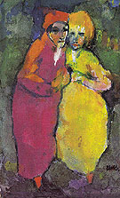 Couple Red and Yellow By Emil Nolde