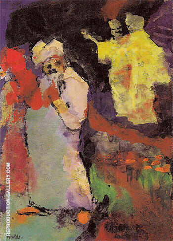 Two Couples in a Park By Emil Nolde - Oil Paintings & Art Reproductions - Reproduction Gallery