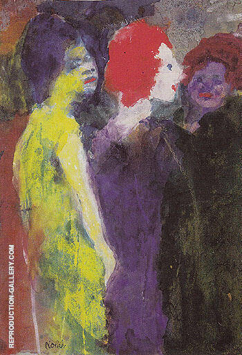 The Redhead By Emil Nolde Replica Paintings on Canvas - Reproduction Gallery