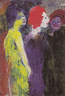 The Redhead By Emil Nolde