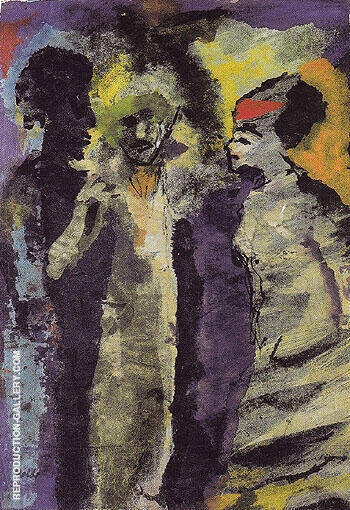 Conversation with Shadows By Emil Nolde - Oil Paintings & Art Reproductions - Reproduction Gallery