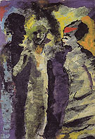 Conversation with Shadows By Emil Nolde