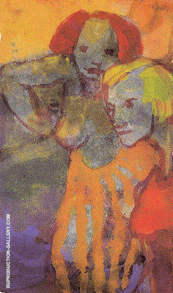 Two Women By Emil Nolde