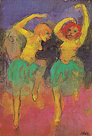 Two Dancers Redhead and Blonde By Emil Nolde