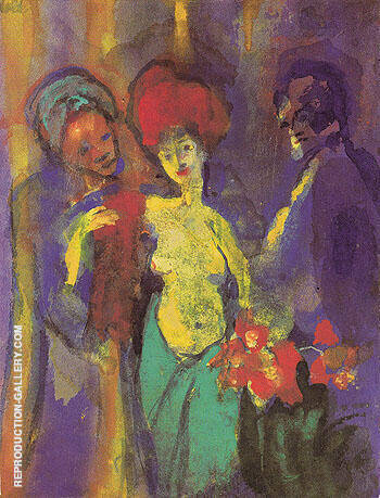 In the Dressing Room By Emil Nolde - Oil Paintings & Art Reproductions - Reproduction Gallery