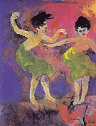 Dancing Women with Green Skirts By Emil Nolde