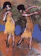 Two Dancing Girls By Emil Nolde