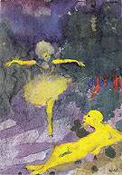 Dancer and Reclining Man By Emil Nolde