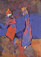 King and Dancing Woman By Emil Nolde