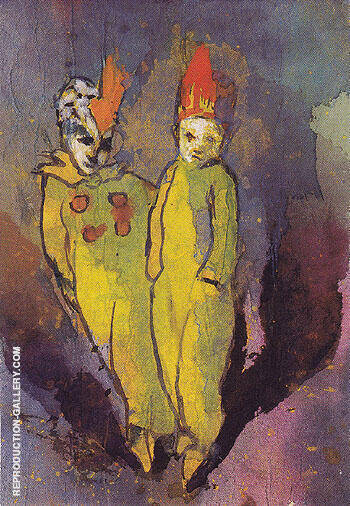 Reproduction of Costumed Couple by Emil Nolde | Oil Painting Replica On CanvasReproduction Gallery