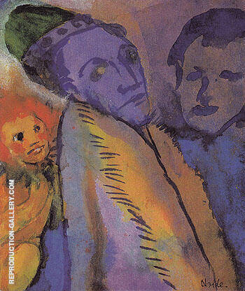 Couple and Redheaded Child Painting By Emil Nolde - Reproduction Gallery