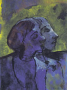 Blue Couple in Sidelight By Emil Nolde