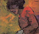 Woman in a Red Dress By Emil Nolde