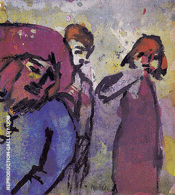 Three Figures By Emil Nolde Replica Paintings on Canvas - Reproduction Gallery