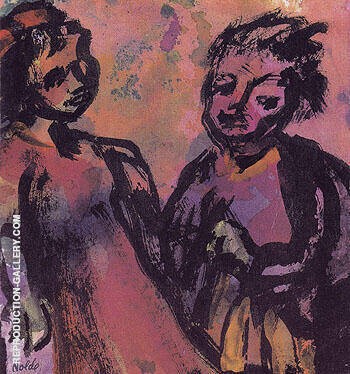 Couple Reddish Brown By Emil Nolde Replica Paintings on Canvas - Reproduction Gallery