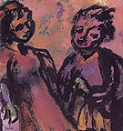 Couple Reddish Brown By Emil Nolde