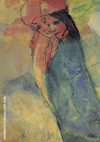 Hovering Couple By Emil Nolde