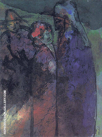 Conversation Green and Violet By Emil Nolde - Oil Paintings & Art Reproductions - Reproduction Gallery