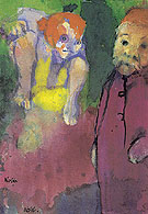 Old Man and Wood Gnome By Emil Nolde