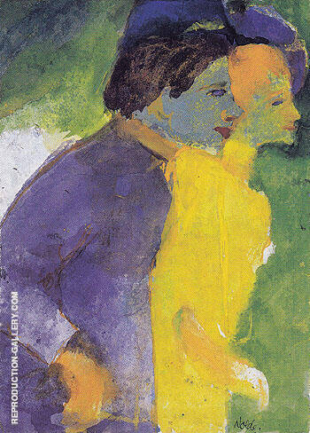 Couple Violet and Yellow By Emil Nolde - Oil Paintings & Art Reproductions - Reproduction Gallery