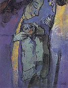 Family Dark Blue and Green By Emil Nolde