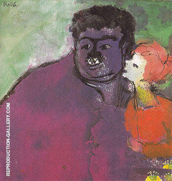 Mismatched Couple By Emil Nolde - Oil Paintings & Art Reproductions - Reproduction Gallery
