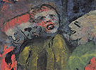 Grotesque Figures Red Yellow Green By Emil Nolde