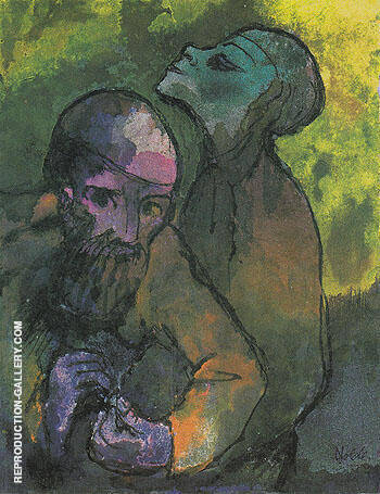 Old Man and Woman By Emil Nolde - Oil Paintings & Art Reproductions - Reproduction Gallery