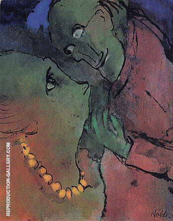 Frog Green Couple By Emil Nolde