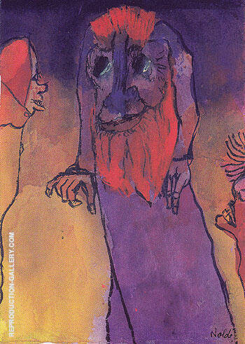 Red Bearded Treeman By Emil Nolde - Oil Paintings & Art Reproductions - Reproduction Gallery