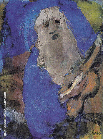 Hoary Old Man Singing By Emile Nolde