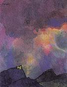 Dark Mountain Landscape By Emil Nolde