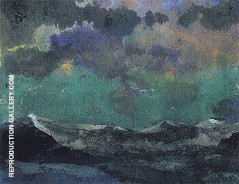 Dark Sea Green Sky By Emil Nolde