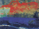 Blue Sea and Red Clouds By Emil Nolde