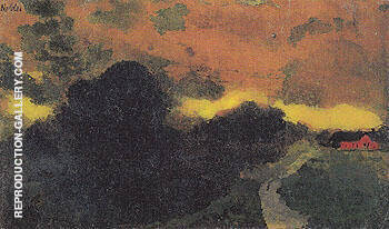 Dark Landscape North Friesland By Emil Nolde - Oil Paintings & Art Reproductions - Reproduction Gallery