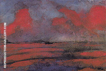 Reproduction of Landscape in Red Light by Emil Nolde | Oil Painting Replica On CanvasReproduction Gallery