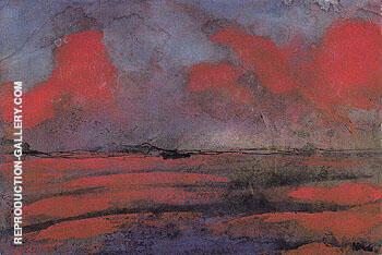 Landscape in Red Light By Emil Nolde