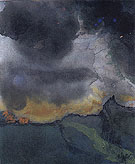 Mountain Landscape with Dark Clouds By Emil Nolde