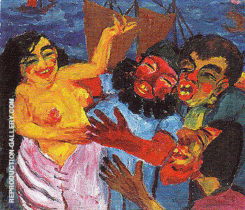 The Legend of St Maria Aegyptiaca 1912 A By Emil Nolde Replica Paintings on Canvas - Reproduction Gallery