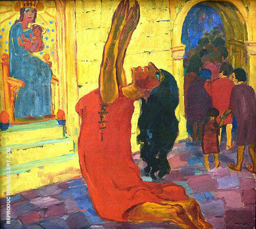 The Legend of St Maria Aegyptiaca 1912 B By Emil Nolde Replica Paintings on Canvas - Reproduction Gallery
