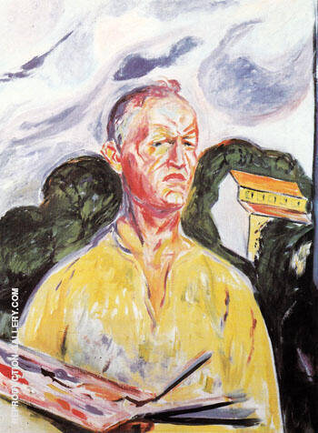 Self Portrait at Ekely 1926 Painting By Edvard Munch