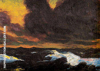 The Sea 1930 B By Emil Nolde