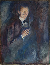 Self Portrait with Burning Cigarette 1895 By Edvard Munch