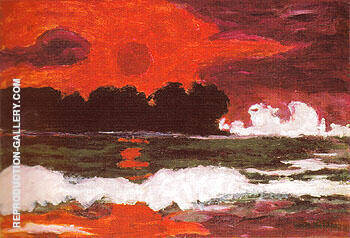 Reproduction of Tropical Sun 1914 by Emil Nolde | Oil Painting Replica On CanvasReproduction Gallery