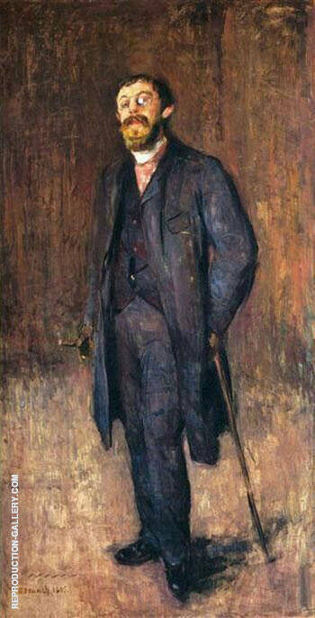 Portrait of The Painter Jensen Hjell 1885 By Edvard Munch