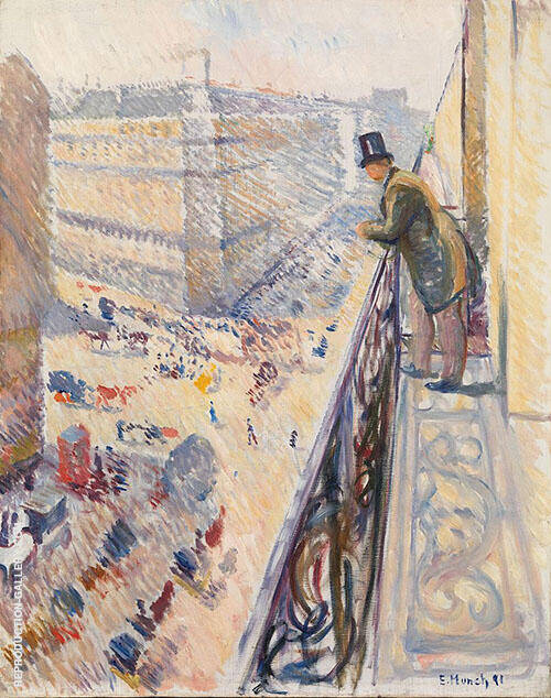 Rue Lafayette 1891 By Edvard Munch Replica Paintings on Canvas - Reproduction Gallery